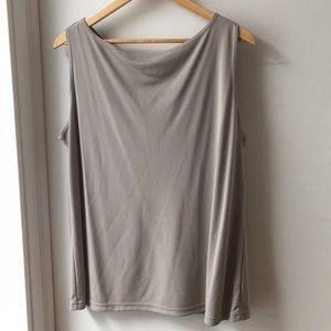 Size 1x  tan Emanuel Ungaro sleeveless knit top
